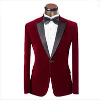 신랑 사이즈 XS-6XL를 들어 2016 최신 코트 바지 디자인 남성 정장 빨간색과 파란색 턱시도 패션 브랜드 남성 슬림 맞춤 웨딩 댄스 파티 정장