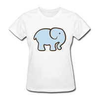 T-shirt da donna estate semplici e gratuite Art Elephant Easy Painting T-shirt girocollo e maniche corte