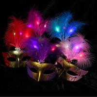 De nieuwe gouden villi kinderen lichtgevende masker masker masquerade rekwisieten aap hot flitsen