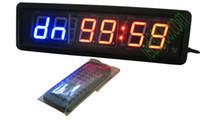 GIM Timer Crossfit LED orologio da parete a parete Timer programmatore fai-da-te grande LED conto alla rovescia / su orologio sportivo competizioni temporizzatore a distanza