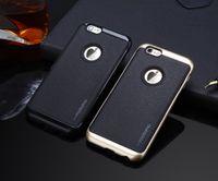 على غرار Business Motomo Leather Back PC Cover Case for iPhone 7 Plus iphone 5 6 6plus Cases Samsung Galaxy S7 Edge Note 5 J5 J7 Phone Cases