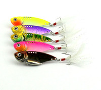 50pcs Blade baits 5. 5CM 11G metal fishing lures Fresh Shallo...