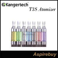 100% autentyczny kanger T3S Atomizer Commer Aktualizacja Clearomizer Cartomizer KangerTech T3S z zmiennym cewki Łańber 100% oryginału