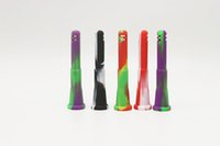 100% downstem de silicona con un tazón de vidrio se pueden utilizar todo tipo de tubo de vidrio de silicona bong