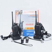 BF-888S 400-470MHz 5W 16ch Radio bidireccional portátil Walkie Talkie Interphone con batería de 1500mAh 888S Envío gratis