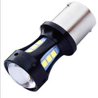 1 Sztuk Nowy Super Bright 1156 P21W BA15S 18 SMD 3030 LED Auto Lampy hamulcowe Car Running Light Reverse Carbs White DC 12V