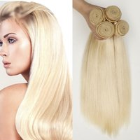버진 페루 실키 스트레이트 금발의 인간의 머리카락 확장 4pcs 많은 613 플래티넘 블리치 금발 버진 페루 인간의 머리카락 번들