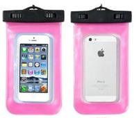 حقيبة كيس ماء واضحة للماء الشامل العالمي غطاء مقاوم للماء تحت الماء مناسبة لجميع الهاتف المحمول فون سامسونج