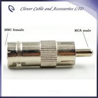 Бесплатная доставка 10 шт./лот CCTV разъем RCA мужчина к BNC женский разъем видео адаптер bnc разъем