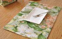 Tabella di alta qualità stuoie tavola stuoie americani tovaglia fiore di paese tovaglietta mat occidentali tovagliette pad doppia stuoia di spessore