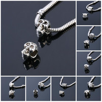 Beads Charms Fashion Perles Jewelry Silver Plated Cute Bead ...