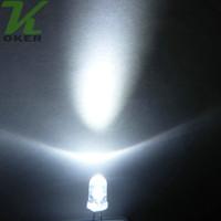 1000 pcs 5mm branco redondo água lâmpada de luz lâmpada de luz lâmpada emissora diodo ultra brilhante plug-in DIY kit prática de grande angular