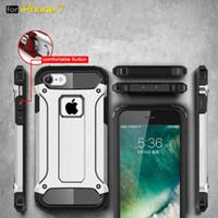 Hibrid Zırh Vaka Iphone 7 Artı 6 6 s Artı 5 S Huawei P9 P8 Lite durumda Hibrid Kauçuk Arka Kapak Kılıf Savunmak