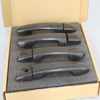 4 шт. углеродного волокна наружные дверные ручки дверная ручка украшения декоративные аксессуары 3D наклейки для Mazda 3 Axela