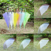 Şeffaf Temizle Şemsiye Dans Performansı Uzun Kolu Gökkuşağı Evc Şemsiye Plaj Düğün Kendinden Açılış Şemsiyesi Erkekler Kadınlar Çocuklar için