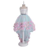 Güzel Bak Küçük Prenses Elbise Eren Jossie Ince Askıları Asimetrik Tasarım Kızlar Pageant Elbise Doğum Günü Partisi Elbise