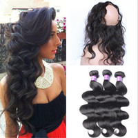 Hot Selling 360 Lace Frontal With Bundles 9A Malaysian Hair ...