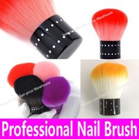 Wholesale- New 2015 Candy Color Nail Brush Portable Lovely D...