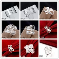 10 pieces diffrent style sterling silver rings DFMR14, wholes...