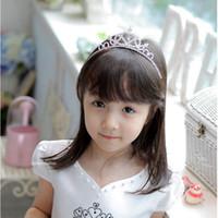 2020 Fashion all'ingrosso- chic glitter strass principessa corona testa fascia tiara bastoni bellissimo bambino a forma di cuore bambino ragazza accessori per capelli