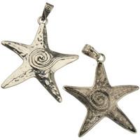 ювелирные изделия выводы подвески ожерелья diy морская звезда дизайн большой один слайд подвески винтаж серебристый металл женщина 2016 новое лето 88 * 67 мм 20 шт.