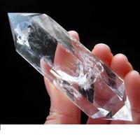 Varmförsäljning! 1pcs Natural Clear Quartz Crystal DT Wand Point Healing Hot