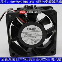 New Original NMB 06025SS-24N-AL 60 * 60 * 25 MM 24 V 0.11A 6 cm de Sinal de Alarme conversor de freqüência ventilador de refrigeração