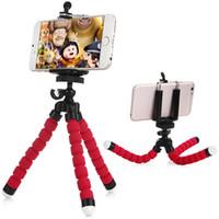Tripés de câmera tripé de telefone celular suporte do polvo titular com adaptador de montagem para iphone 5s 6 s plus samsung sony htc smartphone câmera b1