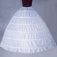 2021 Plus Size Bridal Crinolines Petticoat 6 Reifen Rock Lace Up Taille Einstellbar Ballkleid Slip In Stock Hochzeit Zubehör günstig