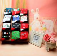 Le calze lavorate a maglia di Natale della sig.na Christmas calza quattro calze adorabili delle donne dell'elemento di Natale di stagioni che tricottano le calze che spediscono liberamente CT13