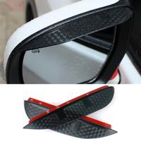 Estilo do carro de Carbono espelho retrovisor sobrancelha chuva À Prova de Chuva Protetor de Lâmina Flexível Acessórios Para Subaru XV 2014
