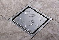 Darmowa płytka Wkładka Kwadratowa odpadów odpadów podłogowych Łazienka Odpływ prysznicowy 110 x 110mm, 304 Łazienka ze stali nierdzewnej Łazienka Dreasnarz DR051
