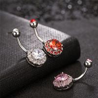 Fornitura di fabbrica di alta qualità CZ Diamond Clear Gemmed Acciaio inossidabile Ancora per anello dell'ombelico dell'ombra per il partito per il matrimonio