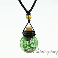 Ball Blumen innerhalb Aromatherapie Schmuck Großhandel Diffusor Armband Aroma Halskette Glas Flasche Charme Lampwork Glas