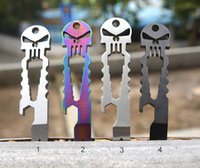 Outdoor Multifunction Titanium Skull Crowbar Stainless Steel...