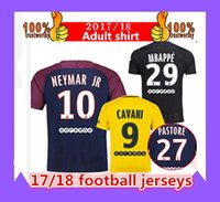 Thai quality 2017 PSG shirt suits NEYMAR JR soccer jerseys 2...