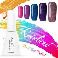 Azure 10Pcs Gel Polish Colorful Rainbow Color Nail Gel 12ml ...
