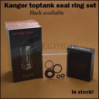 100% original Kanger toptank mini anillo de sello de silicona juego de juntas tóricas de reemplazo para kangertech tanque superior mini atomizador de vidrio por goteo kits de caja superior