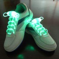 Verde EL atam Cordão piscando EL Led atacadores de sapatos