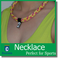 Colliers HOT Tornado personnalisés, collier tressé, collier GT Tornado, fermoir Ge en option rose néon / vert / orange / violet / bleu