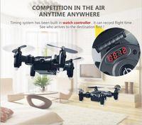 2017 DH-800 Uhrsteuerung Wifi FPV RC Selfie Drohne 2,4 GHz Faltbare Tasche Mini RC Drohne Tragbare RC Quadcopter mit 0.3MP Kamera