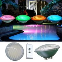 LED PAR56 pool light 54W 12V RGB IP68 18led LED Swimming Pool Light Outdoor Lighting Underwater Pond lights led piscina CE RoHS