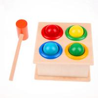 1 مجموعة خشبية يدق الكرة مطرقة مربع الأطفال متعة اللعب الهامستر لعبة لعبة التعلم المبكر ألعاب تعليمية