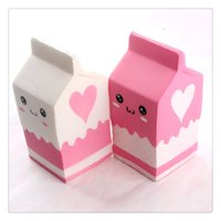 New Squishies Milk Bottle Box Squishy Squeeze Slow Rising Ju...