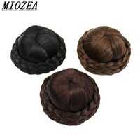 Hair Braided Clip In Hair Bun Chignon Hairpiece Donut Roller...