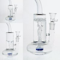 clear glass bongs with magical spiral shaped perc thick base...