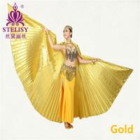2017 новый египетский Египет танец живота костюм Isis Крылья танцевальная одежда (без палки) 11 цветов
