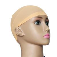2pcs Unisex 탄성 가발 모자 glueless 머리 그물 가발 라이너 hairnet snood 나일론 스트레치 메쉬