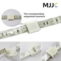 100st 8mm 2pin 10mm 4pin PCB Solderfria kontakter Adapter för SMD 5050 3528 RGB Enkelfärg LED-bandljus