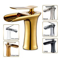 Waterfall Spout Bathroom Sink Faucet Basin with 6 Color 9 St...